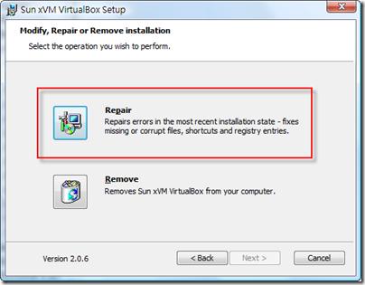 VBox-repair